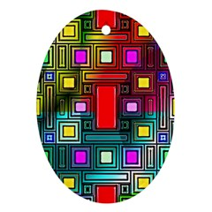 Abstract Modern Oval Ornament (Two Sides)