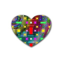 Abstract Modern Drink Coasters (Heart)