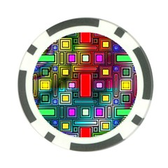Abstract Modern Poker Chip