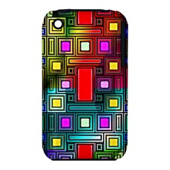 Abstract Modern Apple Iphone 3g/3gs Hardshell Case (pc+silicone)