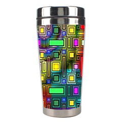 Abstract Modern Stainless Steel Travel Tumbler