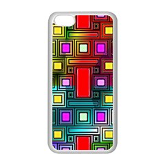 Abstract Modern Apple iPhone 5C Seamless Case (White)
