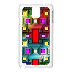 Abstract Modern Samsung Galaxy Note 3 N9005 Case (White)