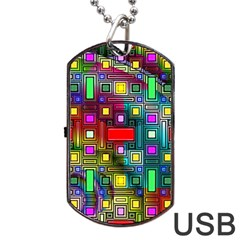 Abstract Modern Dog Tag USB Flash Drive