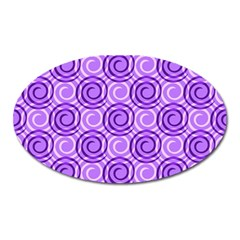 Purple And White Swirls Background Magnet (Oval)