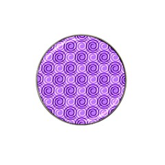 Purple And White Swirls Background Golf Ball Marker (for Hat Clip)