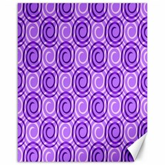 Purple And White Swirls Background Canvas 16  x 20  (Unframed)