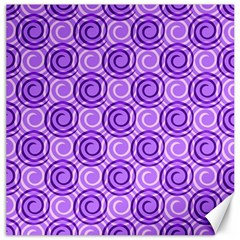 Purple And White Swirls Background Canvas 20  X 20  (unframed)