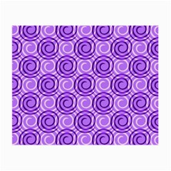 Purple And White Swirls Background Glasses Cloth (Small, Two Sided)