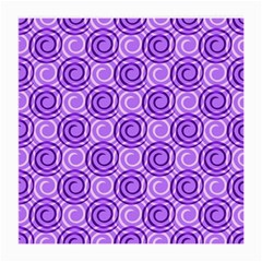 Purple And White Swirls Background Glasses Cloth (Medium, Two Sided)
