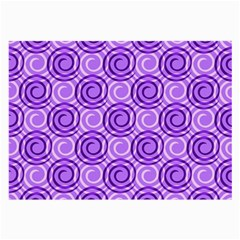 Purple And White Swirls Background Glasses Cloth (Large, Two Sided)