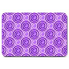 Purple And White Swirls Background Large Door Mat