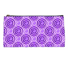 Purple And White Swirls Background Pencil Case
