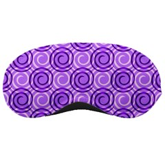 Purple And White Swirls Background Sleeping Mask