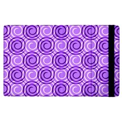 Purple And White Swirls Background Apple Ipad 3/4 Flip Case