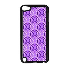 Purple And White Swirls Background Apple Ipod Touch 5 Case (black)