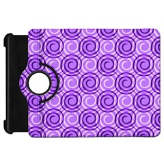 Purple And White Swirls Background Kindle Fire HD 7  (1st Gen) Flip 360 Case