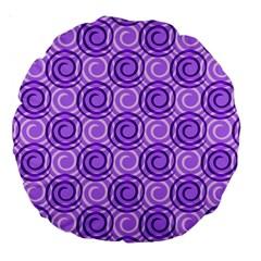 Purple And White Swirls Background 18  Premium Round Cushion