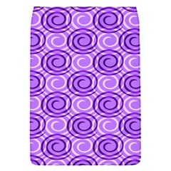 Purple And White Swirls Background Removable Flap Cover (small)