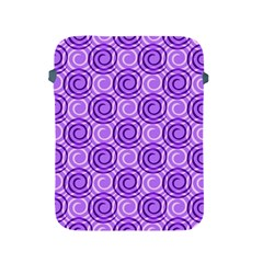 Purple And White Swirls Background Apple Ipad Protective Sleeve