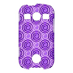Purple And White Swirls Background Samsung Galaxy S7710 Xcover 2 Hardshell Case