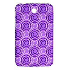 Purple And White Swirls Background Samsung Galaxy Tab 3 (7 ) P3200 Hardshell Case
