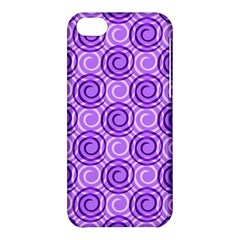 Purple And White Swirls Background Apple iPhone 5C Hardshell Case