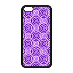 Purple And White Swirls Background Apple Iphone 5c Seamless Case (black)