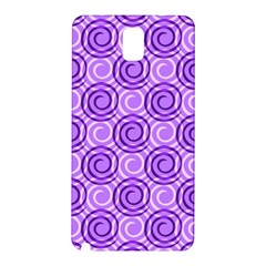 Purple And White Swirls Background Samsung Galaxy Note 3 N9005 Hardshell Back Case
