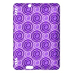 Purple And White Swirls Background Kindle Fire HDX 7  Hardshell Case