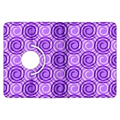 Purple And White Swirls Background Kindle Fire HDX 7  Flip 360 Case
