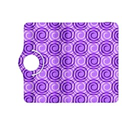 Purple And White Swirls Background Kindle Fire Hdx 8 9  Flip 360 Case