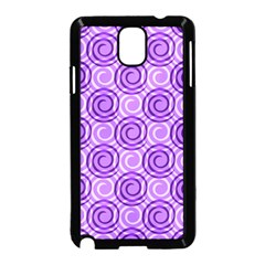 Purple And White Swirls Background Samsung Galaxy Note 3 Neo Hardshell Case (black)