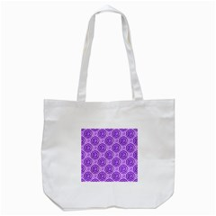 Purple And White Swirls Background Tote Bag (White)
