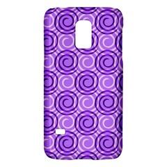 Purple And White Swirls Background Samsung Galaxy S5 Mini Hardshell Case