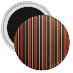 Festive Stripe 3  Button Magnet