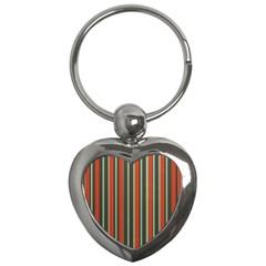 Festive Stripe Key Chain (Heart)