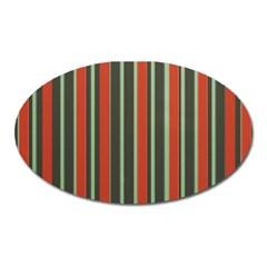Festive Stripe Magnet (oval)