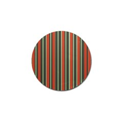 Festive Stripe Golf Ball Marker 4 Pack