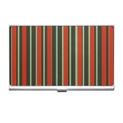 Festive Stripe Business Card Holder
