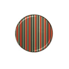 Festive Stripe Golf Ball Marker 10 Pack (for Hat Clip)