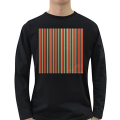 Festive Stripe Men s Long Sleeve T-shirt (Dark Colored)