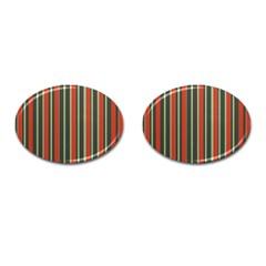 Festive Stripe Cufflinks (oval)
