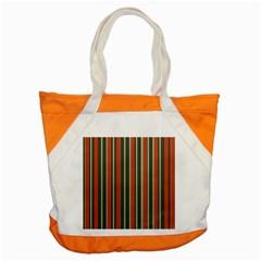 Festive Stripe Accent Tote Bag
