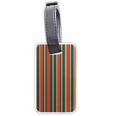 Festive Stripe Luggage Tag (two Sides)