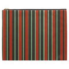 Festive Stripe Cosmetic Bag (XXXL)