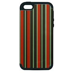 Festive Stripe Apple Iphone 5 Hardshell Case (pc+silicone)