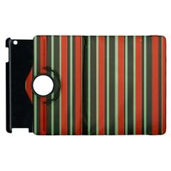 Festive Stripe Apple iPad 3/4 Flip 360 Case