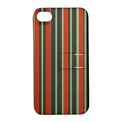 Festive Stripe Apple Iphone 4/4s Hardshell Case With Stand