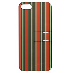 Festive Stripe Apple Iphone 5 Hardshell Case With Stand